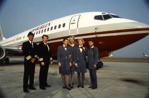 Una tripulación de Airberlin.